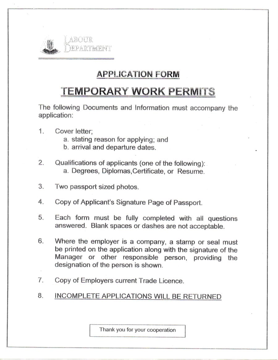 temporary-work-permit