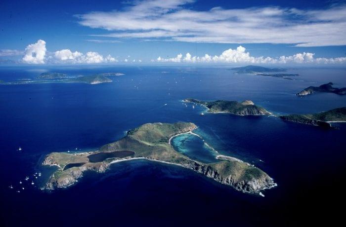 Salt Island from Above & Southern British Virgin Island Chain